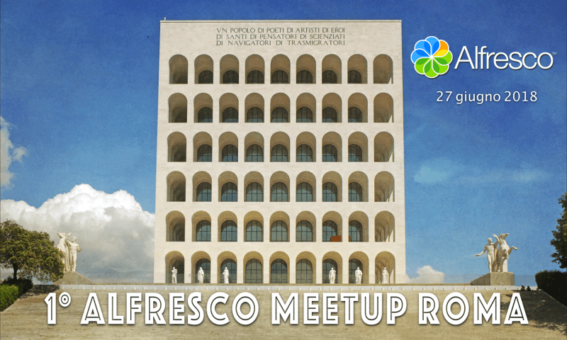 logo alfresco meetup roma 2018